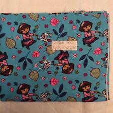 """Dora Explorer Suede Nursery fabric  42"""" By 36"""""""