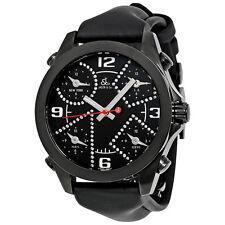 Jacob and Co. Five Time Zone Black Dial Diamond Mens Watch JCM-2BCDA