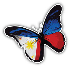 Philippines Butterfly Flag Car Bumper Sticker Decal 5'' x 5''