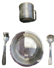 "Vintage Silver Plated WM. A. Rogers Campbell's Soup Child set ""M-m-m Good"""