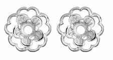 Earring Jackets Flower  Silver Flower Earring Jackets