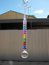 1 x suncatcher crystal ball glass beads rainbow dreamcatcher chakra prism mobile