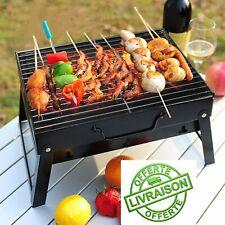 Mini Barbecue à charbon de Table Mobile Portable BBQ Grille Inox Pliable Camping