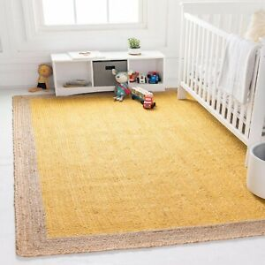 Rug Runner 100% natural braided jute handmade carpet rustic modern look area rug