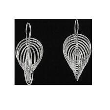 Silver Dangling Fancy Earrings With Hook Style Backing Fine Jewelry #PVE38