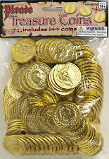 Gold Pirate Coins Money Bag of 144 pcs Pirate Costume Accessory