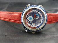 1970s Very Rare Vintage Sorna by Breitling Chrono GMT world timer mod.
