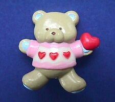 Gibson Pin Valentines Vintage Bear Hugglesbie Heart Garland Teddy Holiday Brooch