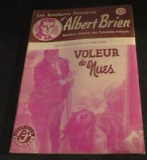 1940s ADVENTURES POLICIER ALBERT BRIEN DETECTIVE SEX MURDER FRENCH  PULP #521