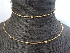 """9ct Gold Child's 16 1/2"""" Fancy Chain & 6 1/2"""" Bracelet Set  6.4 grams"""