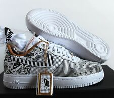 Nike Men Air Force 1 Low SOHO NYC PRM ID Laser Black/White sz 5.5 [921807-992]