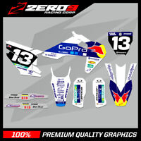HUSQVARNA TE FE TC FC 125 250 350 450 MOTOCROSS MX GRAPHICS FULL KIT PRO GO