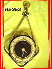 Heges , schöne alte mechanische Wanduhr mit Schlüssel,funktionstüchtig, 1950/60