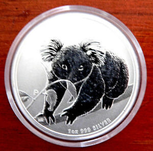 Perth Mint 1 Troy Oz .999 Silver Bullion Coin 2010 Australian Koala *FREE POST*