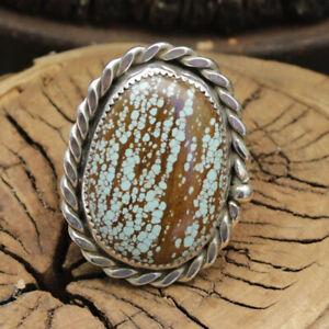 Turquoise ring # 8 mine Jim Saunders Artist,JS-Rg-1175