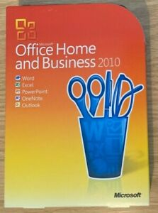 Microsoft Office 2010 Home and Business Word Excel Powerpoint Outlook T5D-00159