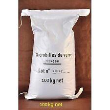 4 x 25 kg Granulat de Verre pour cabine de sablage et microbilleuse