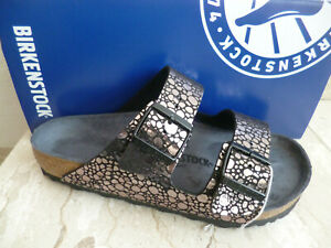 Birkenstock Arizona Mules Sandal Metallic Stones Black 1008871 New