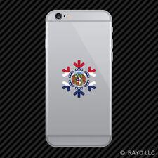 Missouri Snowflake Cell Phone Sticker Mobile MO snow flake snowboard skiing skii