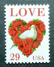2814C MNH 1994 29c Dove and Roses Love Series bird flowers sheet single