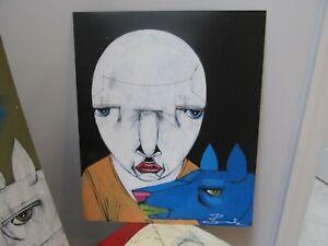MICHAEL BANKS Outsider FOLK ART Abstract Man & Dog  ALABAMA