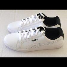 Puma smash perf white black size 7.5       Free shipping