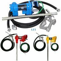 Gasoline Fuel Transfer Pump W/Nozzle Kit 12V DC 20GPM For Gas Diesel Kerosene US