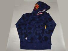15623 color camo jacquard shark wide hoody blue XXL