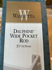 "Wamsutta 2 1/2 Dauphine Wide Pocket Rod 18""-28"" - New"