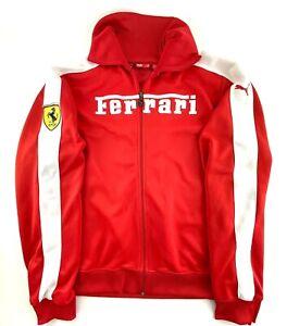 Puma Ferrari Racing Jacket Mens Sz XXL Red RARE Spell Out Stitched Italy EUC
