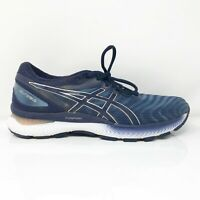 Asics Womens Gel Nimbus 22 1012A586 Blue Running Shoes Lace Up Size 9.5 Wide