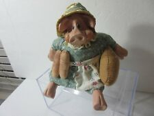 The Country Folks Figurine  Ms Hogmore Pig & Bread Figurine