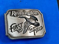 REMINGTON FIRST IN THE FIELD CANADA GOOSE PEWTER BELT BUCKLE