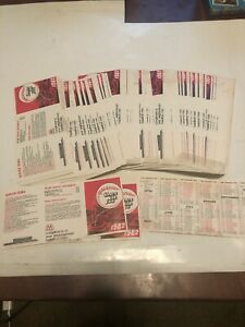 200+ 1992 Cincinnati Reds Baseball Schedules Marathon Man (stains)