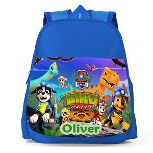 Personalised Paw Patrol Boys Kids Backpack Childrens School Bag