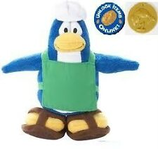 Disney * CLUB PENGUIN Plush BARISTA Series 1 Rare with Unused GOLD Coin Code NWT