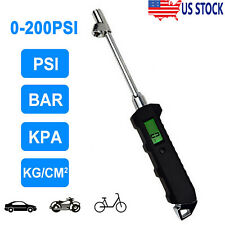 Digital Tire Air Pressure Gauge Checker Trucks Cars Tester Heavy Duty 200 Psi Rv