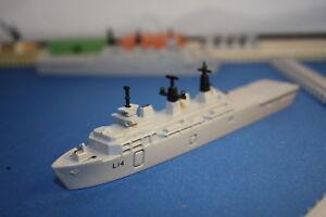 Hms Albion Asalto Barco L14 en Caja R Azul Marino Tri-Ang Minic Naves