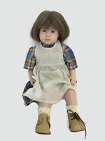 """Sigikid Sabine Escher Jill Girl Doll Vinyl Cloth West Germany 24"""" Limited 615/75"""