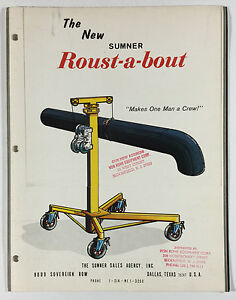 Sumner Roust-a-bout Vintage Advertising Brochure Sumner Sales Agency Dallas TX