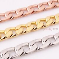"""Mens High Quality Stainless Steel Figaro Chain Necklace or Bracelet 15mm8-40"""""""