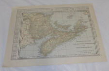 1911 Collier Map of ONTARIO, CANADA, b/w MARITIME PROVINCES, CANADA