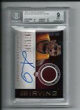 2012-13 Panini Intrigue #113 Kyrie Irving JSY AU/199 BGS Mint Boston Celtics