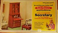 VERY RARE Vintage 1974 Realife Miniatures Secretary - Kit #228! New in Box - HTF