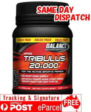 BALANCE TRIBULUS 20,000 180 Capsules -Testosterone Levels-Mass Gain-Terrestris