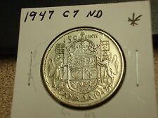 1947 - C7 - ND - Canada 50 cent  - Canadian half dollar -