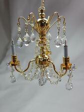 Heidi Ott Dollhouse Miniature Light 3 Arms Real Crysta Chandelier  #YL7002