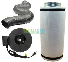 "LUMAGRO 6"" Inline Fan, Filter, and Duct Package with 2x Clamps"