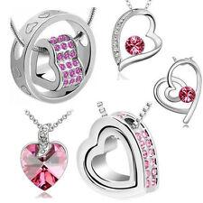 Markenlose Modeschmuck-Halsketten & -Anhänger mit Kristall für Damen