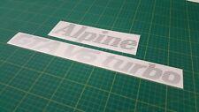 RENAULT ALPINE GTA V6 TURBO Tailgate Décalque Autocollant Graphique restauration